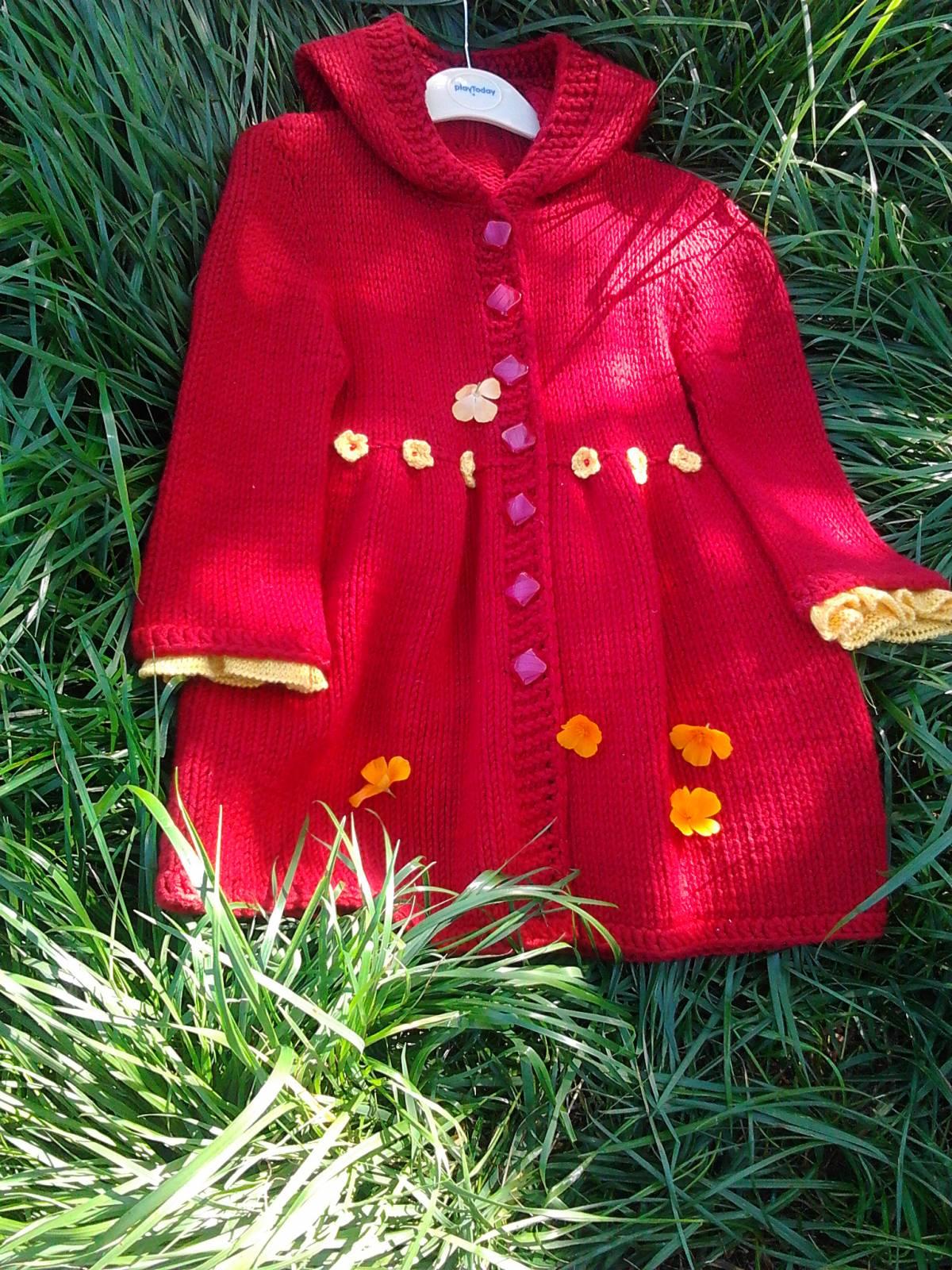 Своими руками вязаные пальто для девочки 447